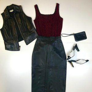 Ann Taylor leather vest